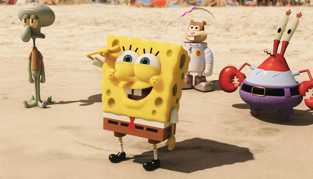 "Relentlessly chipper SpongeBob proves not a one-hit wonder as the second movie about the animated character unseated the not-so-chipper ""American Sniper."""