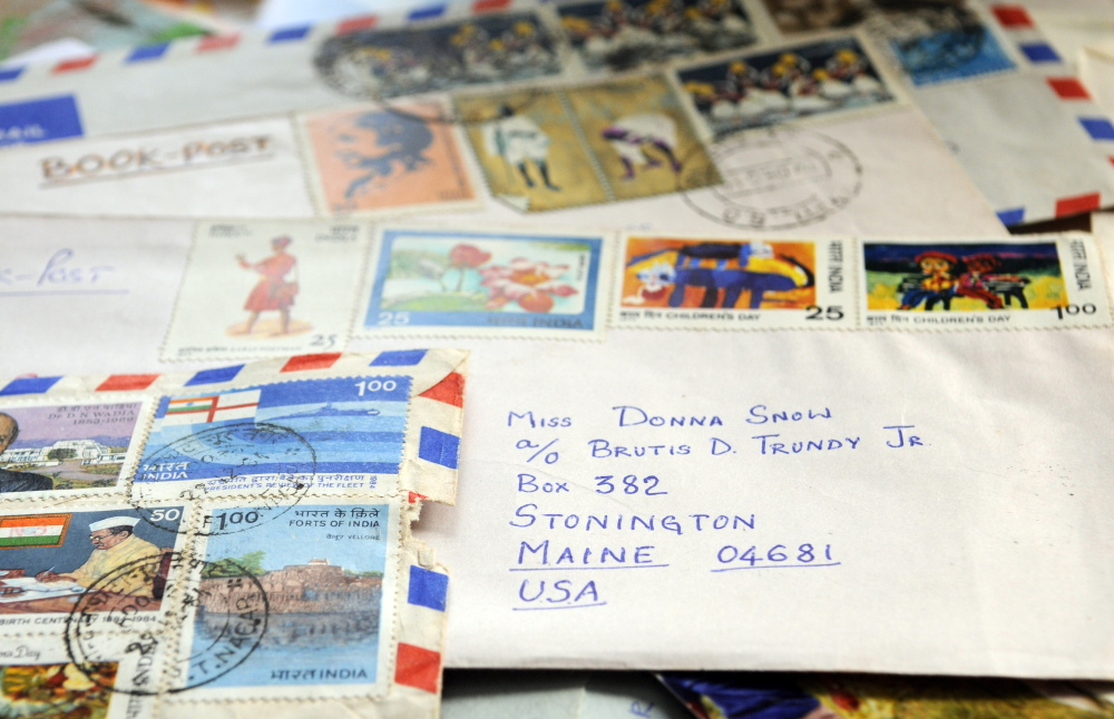 Samanatha McGuire, who was Donna Snow as a child, still has the envelopes from the 1970s, when she started an almost 50-year pen pal relationship with Sujatha Gunasekaran.