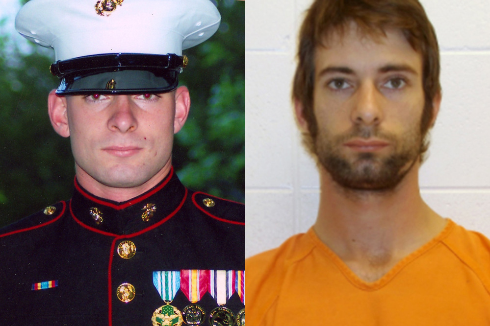 This combination of photos shows Eddie Ray Routh, a former Marine accused of killing Navy SEAL sniper Chris Kyle and Chad Littlefield on Feb. 2, 2013.