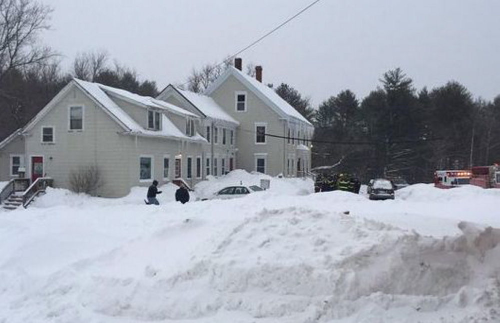 Residents were not allowed to re-enter an apartment building in Gorham after multiple residents complained of possible exposure to carbon monoxide Monday.