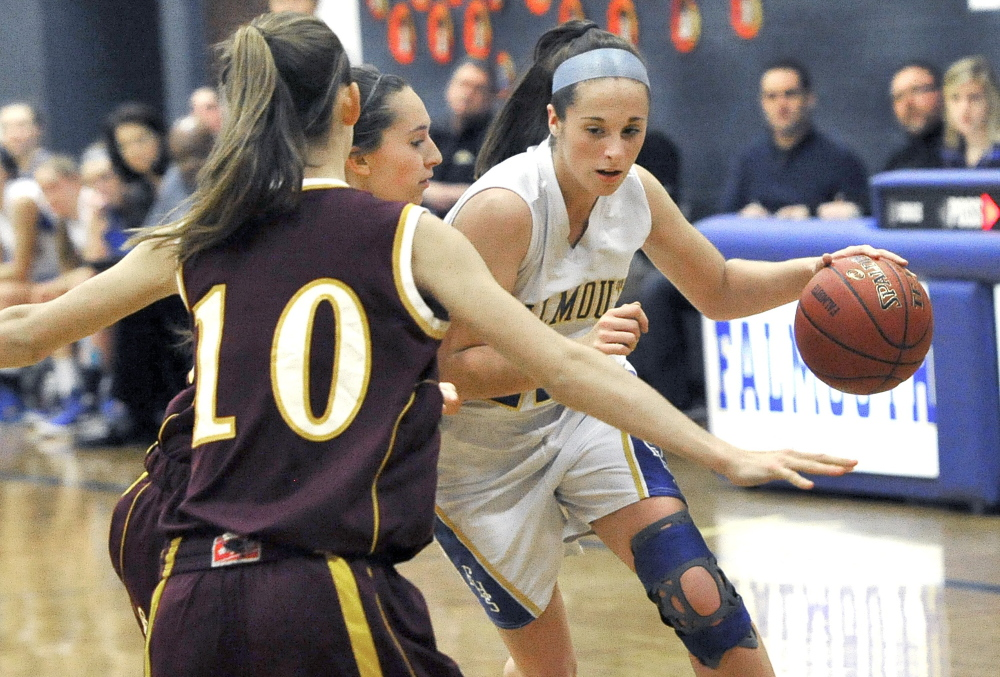 Ally Hickey is part of a trio of senior leaders for Falmouth, along with Dayna Vasconcelos and Jessica Burton, who will lead the No. 6 Yachtsmen into the Western A tournament.