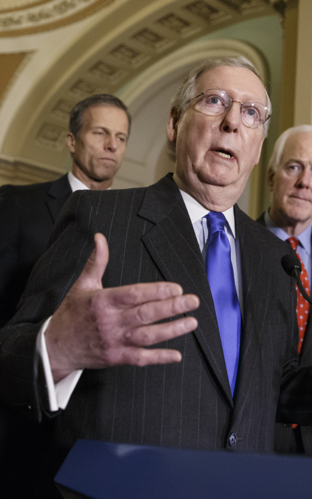 Senate Majority Leader Mitch McConnell says the next move over funding Homeland Security is up to the House.