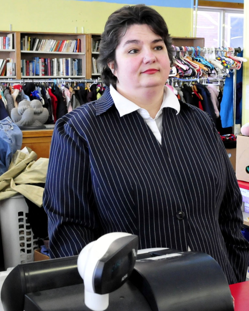 Assistant Manager Michelle Labrie says she can't apply for work at a new thrift shop in Pittsfield because she doesn't have a vehicle.