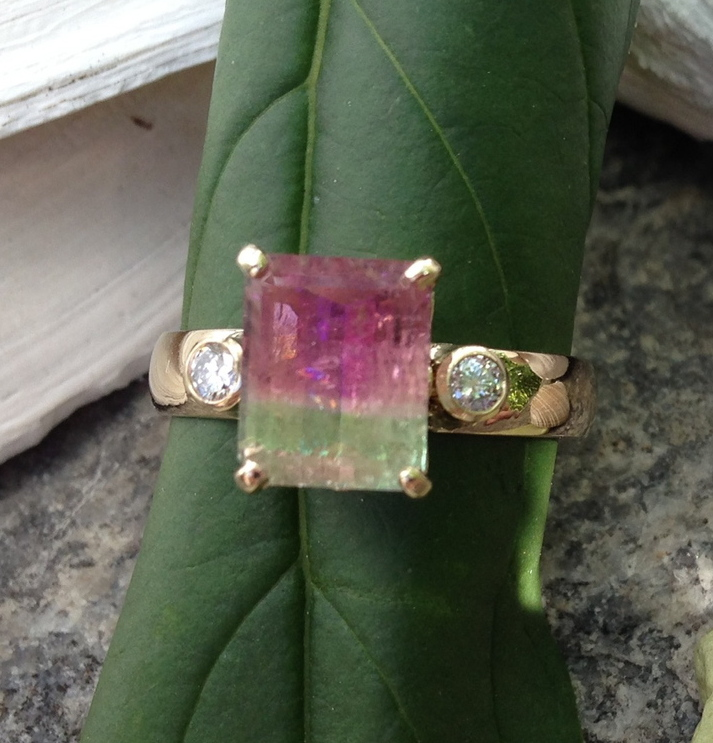 Maine Green Tourmaline Rings