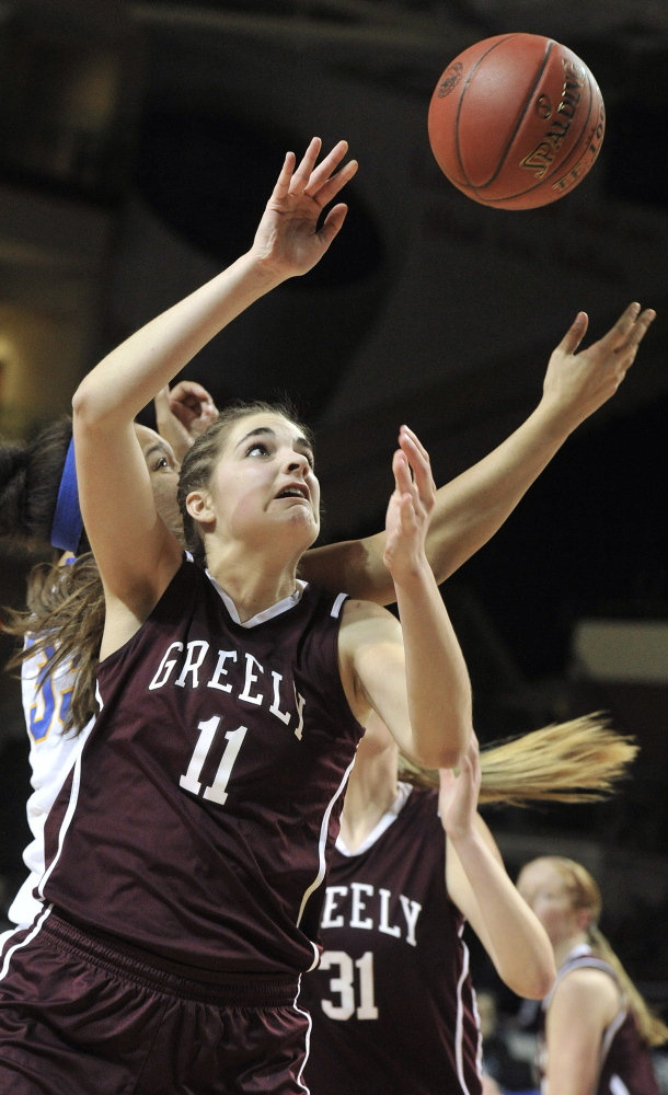 Greely's Ashley Storey led the Western Maine Conference with 20.6 points and 10.4 rebounds per game while also ranking in the top 10 in assists and steals. Press Herald File Photo/