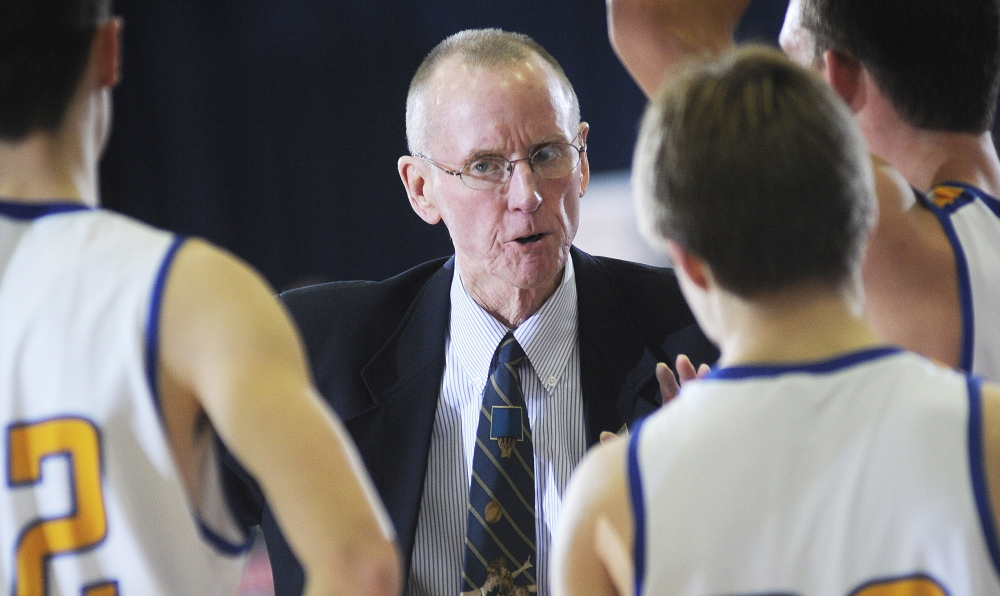 Boothbay Region Coach I.J. Pinkham has more than 500 wins in over 40 years of coaching. He guided his Seahawks to a 16-2 record and the top seed in Western Class C.