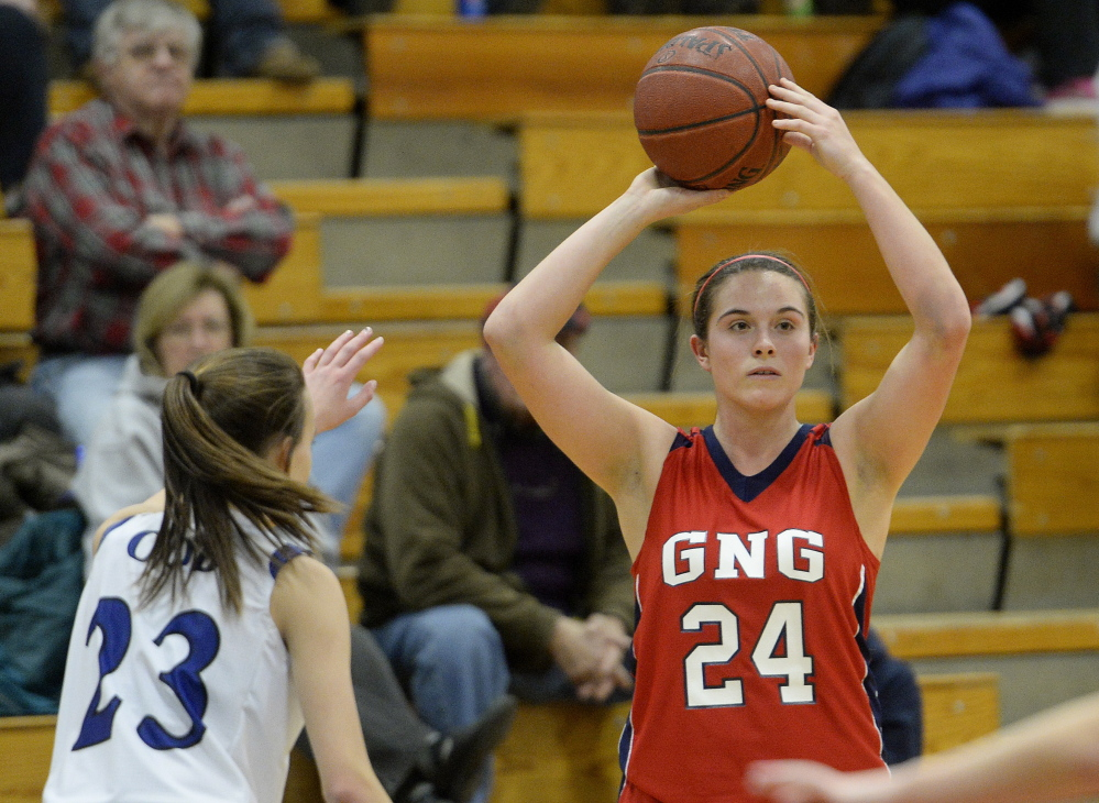 Maria Valente has been a leader for the Gray-New Gloucester girls this season, helping the Patriots compile a 17-1 record and earn the No. 2 seed in the Western B tournament, which opens Tuesday. Tournament play opens in Portland on Friday with Western A boys.