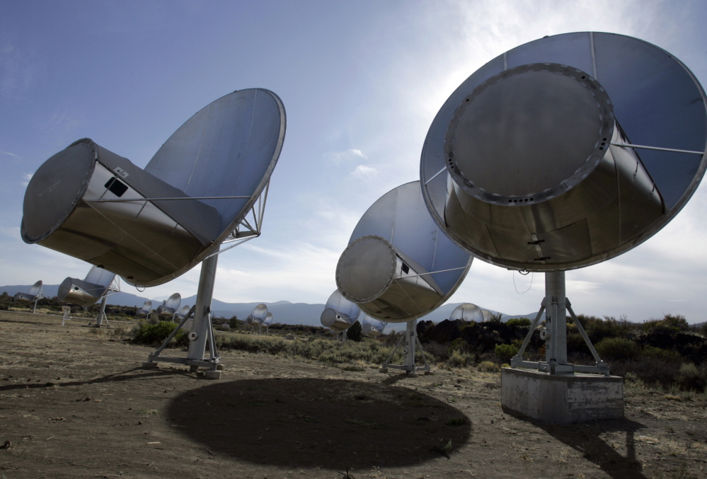 Dozens of radio dishes that make up the Allen Telescope Array in the mountains of far Northern California have scanned deep space for alien signals since 2007.