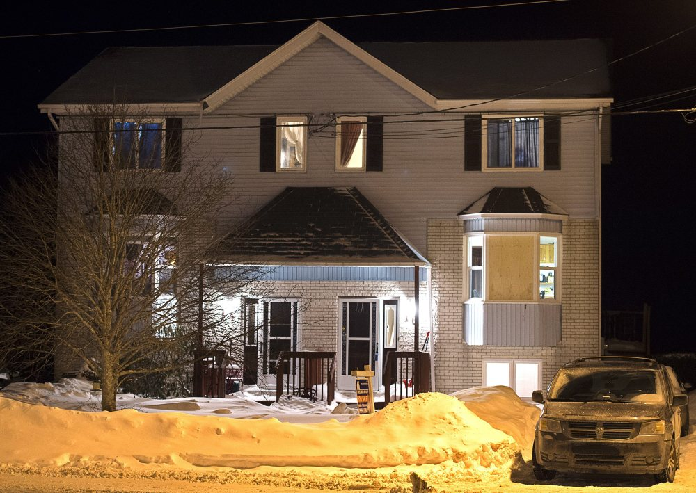 Police found a deceased person in this house on Tiger Maple Drive in Timberlea, Nova Scotia, a Halifax suburb, on Friday. A senior police official said police foiled a plot by suspects who were planning to go to a mall in Halifax on Valentine's Day and kill as many people as they could before killing themselves.