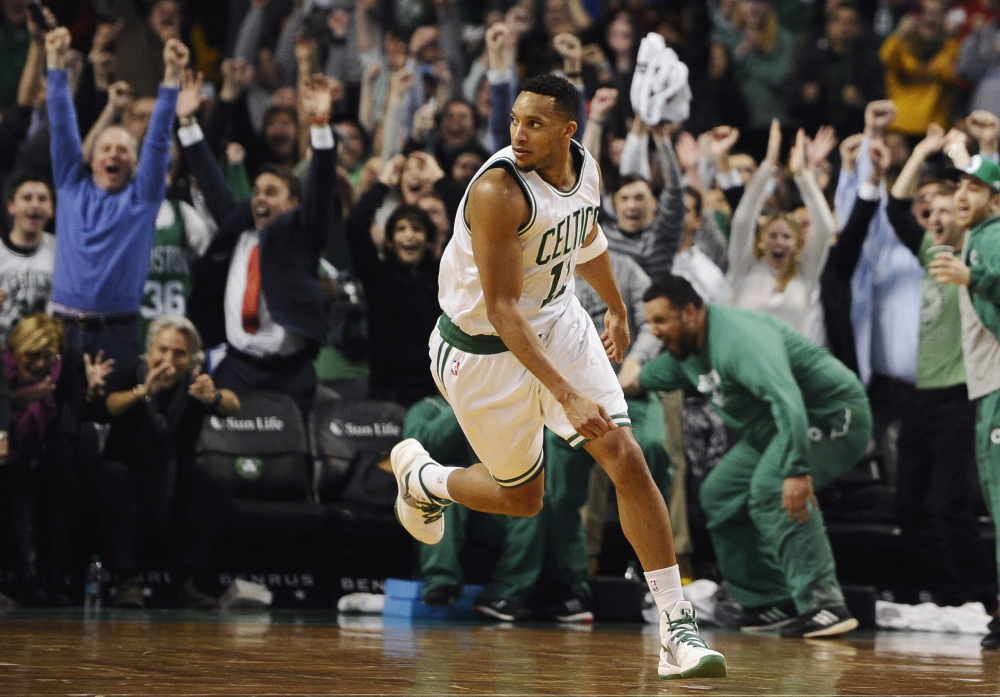 Evan Turner sent the Celtics into the All-Star break on a high note, making a last second basket in a win over the Atlanta Hawks, who have the second-best record in the NBA.