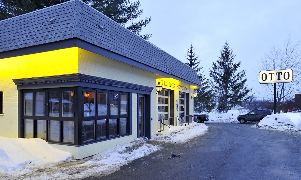 The bright yellow exterior of Otto beckons on the corner of Cottage Road and Highland Avenue.