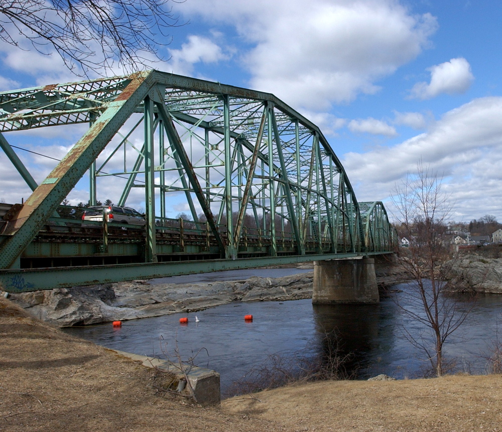 The Frank J. Wood Bridge, built in 1931, carries more than 19,000 vehicles a day over the Androscoggin River between Brunswick and Topsham. The state is now recommending that it be replaced.