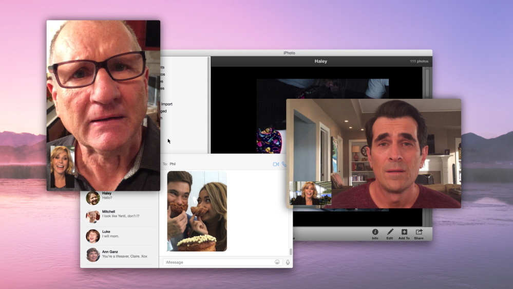 "From left, Claire Dunphy, Jay Pritchett and Phil Dunphy are shown in a scene from the episode, ""Connection Lost,"" of ""Modern Family,"" which will air Wednesday night."