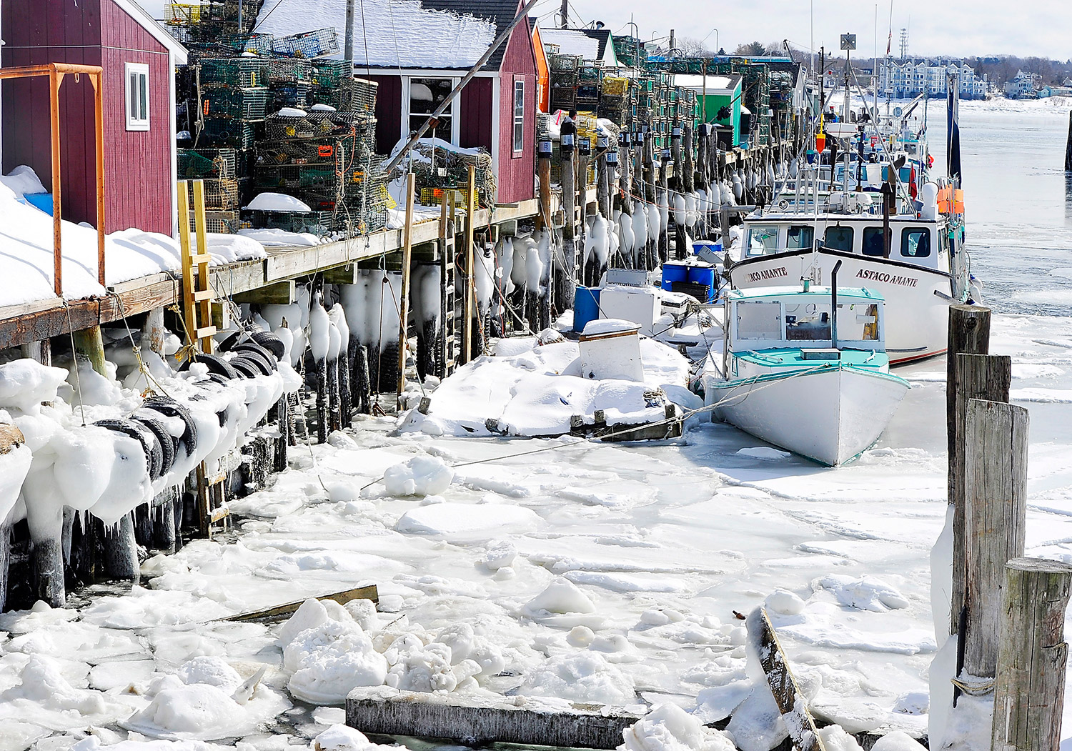 Frozen: Portland's icy harbor, then and now - Portland ...