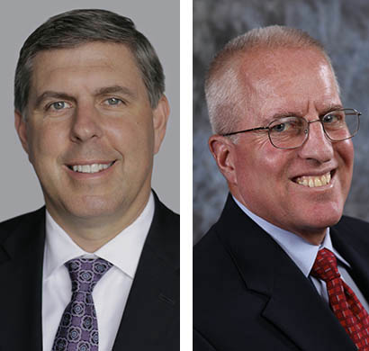 Richard McKenney, left, has been named CEO of Unum, and Jack McGarry, right, has been named CFO.
