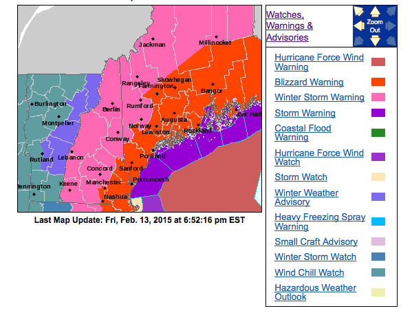 The National Weather Service is forecasting a major snowstorm for Saturday night into Sunday.