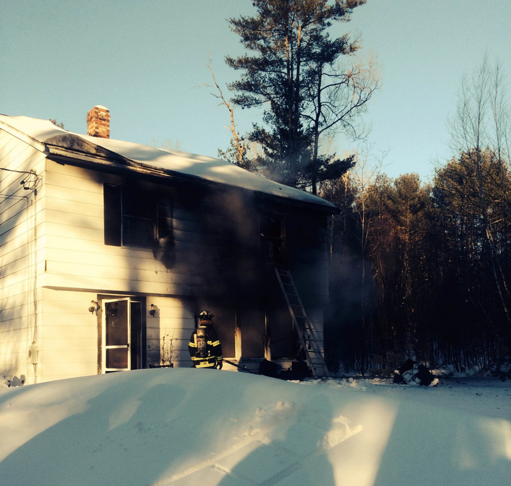 Fire damaged a home at 329 Bennett Road in New Gloucester on Thursday. There were no injuries.