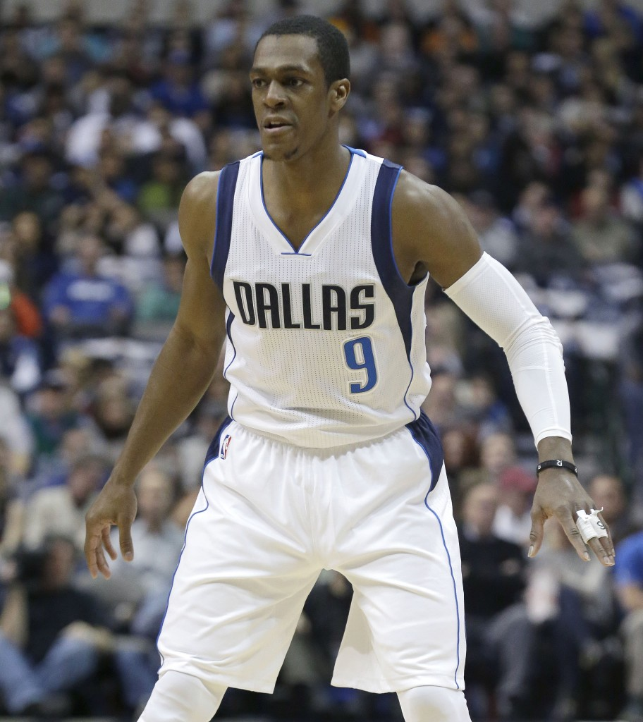 Dallas Mavericks guard Rajon Rondo was suspended for Wednesday's night game in Atlanta for conduct detrimental to the team, after having a heated exchange with coach Rick Carlisle during Tuesday night's game.