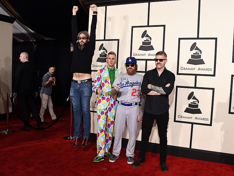 On the red carpet at the 57th annual Grammy Awards - Press ...