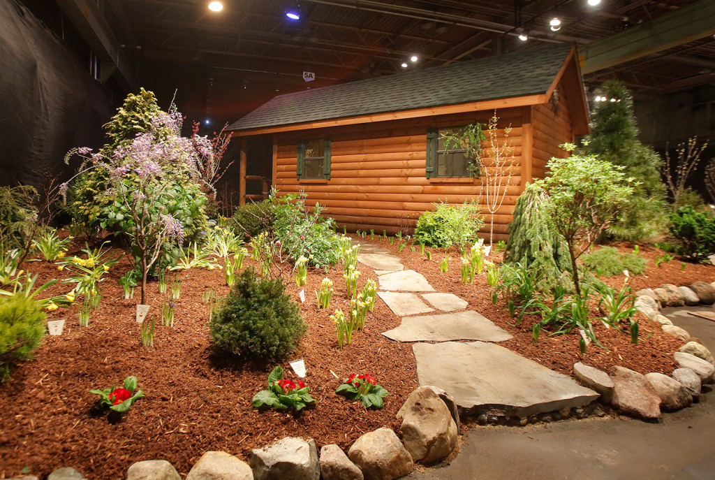 A collaborative effort by three Maine landscape and design companies – Robin's Nest Aquatics, O'Donal's Nursery and Hill View Mini Barns – won the People's Choice Award at the Portland Flower Show. The display also was named Best of Show.