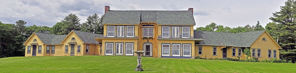The front view of the former Maine Chance Spa, seen in 2014. The estate on Castle Island Road in Mount Vernon and Weston Road in Rome, once owned by Elizabeth Arden, was sold by Stefan Tufano to the Travis Mills Foundation and will be used as a veterans retreat.