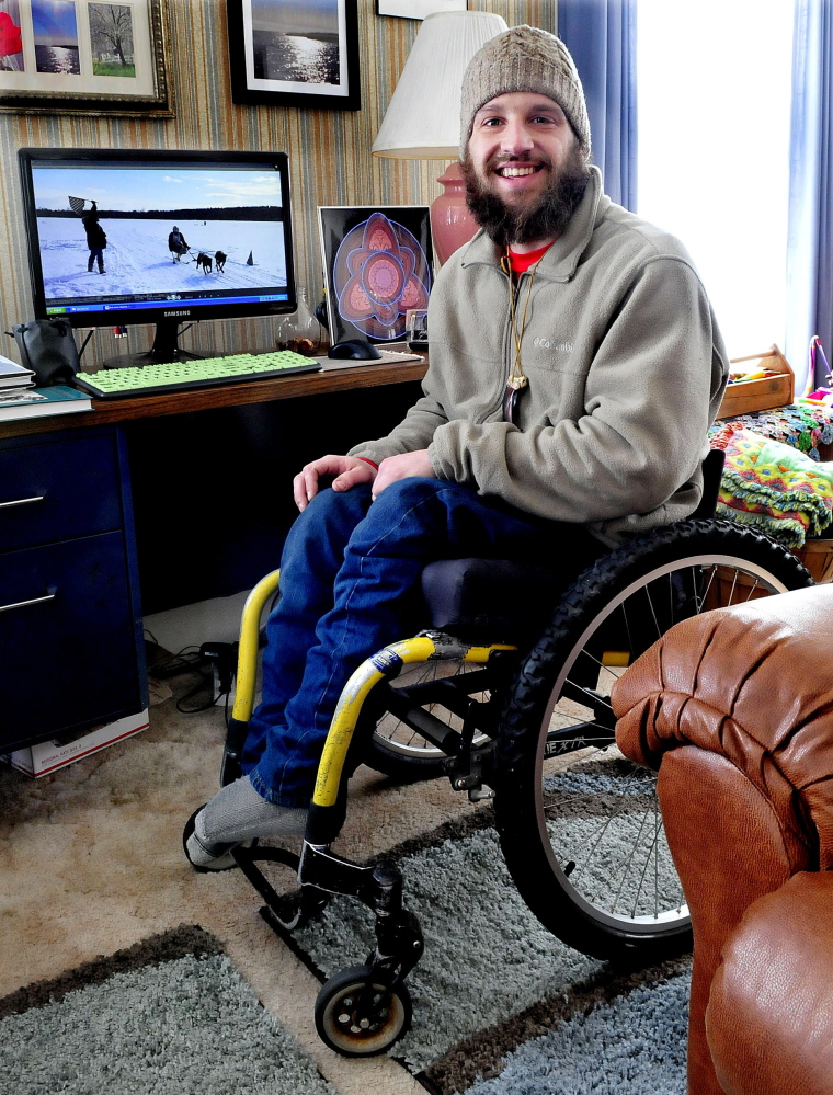 Dogsledding enthusiast and photographer Joe Albee, who has used a wheelchair for most of his life, talks about his experiences from his home in Vassalboro.