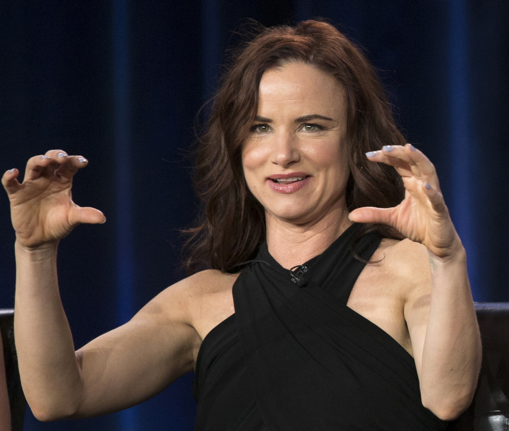 """Juliette Lewis meets the press at a conference for the new ABC series """"Secrets & Lies,"""" which premieres Sunday."""