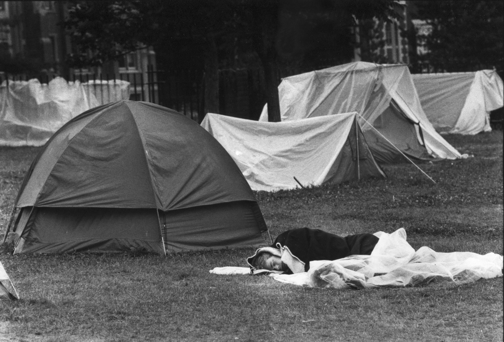 July 21, 1987: A tent city protest endured deep into the month at Portland's Lincoln Park, when a homelessness crisis came to a head.