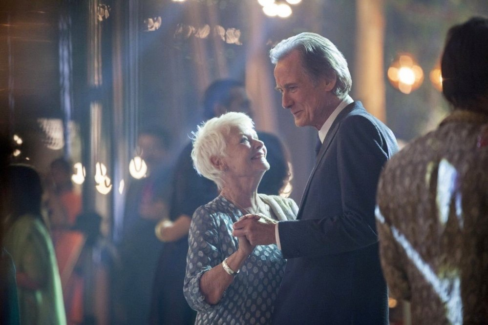"Judi Dench and Bill Nighy in ""The Second Best Exotic Marigold Hotel."""