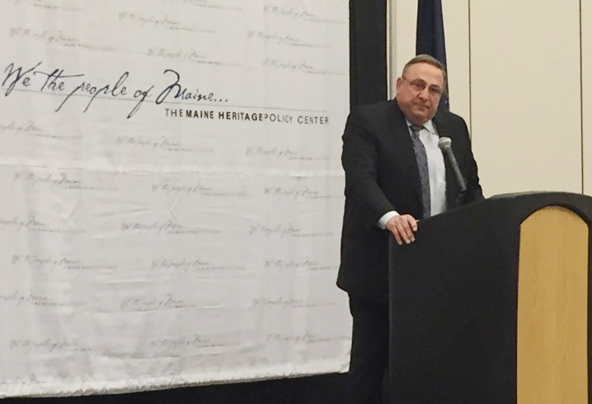 "Gov. Paul LePage delivered a 40-minute speech Wednesday at the Cross Insurance Center in Bangor during a luncheon sponsored by the conservative Maine Heritage Policy Center. He called his budget and tax plan the first ""attempt to really pay attention to Maine people,"" and said it will lead to the ""highest, fastest wage increase that all Mainers are going to receive."""