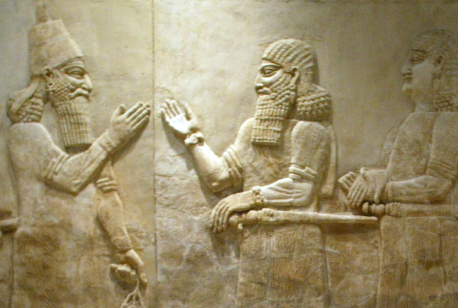 This Baghdad museum mural sculpture was excavated from the Nimrud archaeologicial site.
