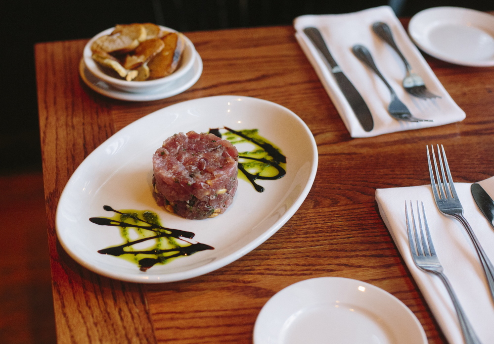 Tuna tartare was big enough for two to share.