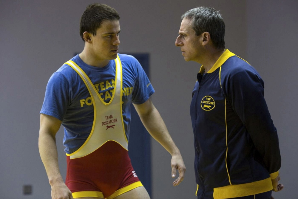 """Channing Tatum and Steve Carell in """"Foxcatcher."""" Sony Pictures Classics"""