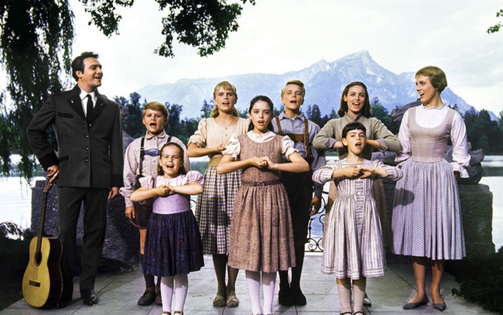 """Julie Andrews, right, and Christopher Plummer anchored the cast, but the """"seven adorable children"""" were frequent scene stealers."""