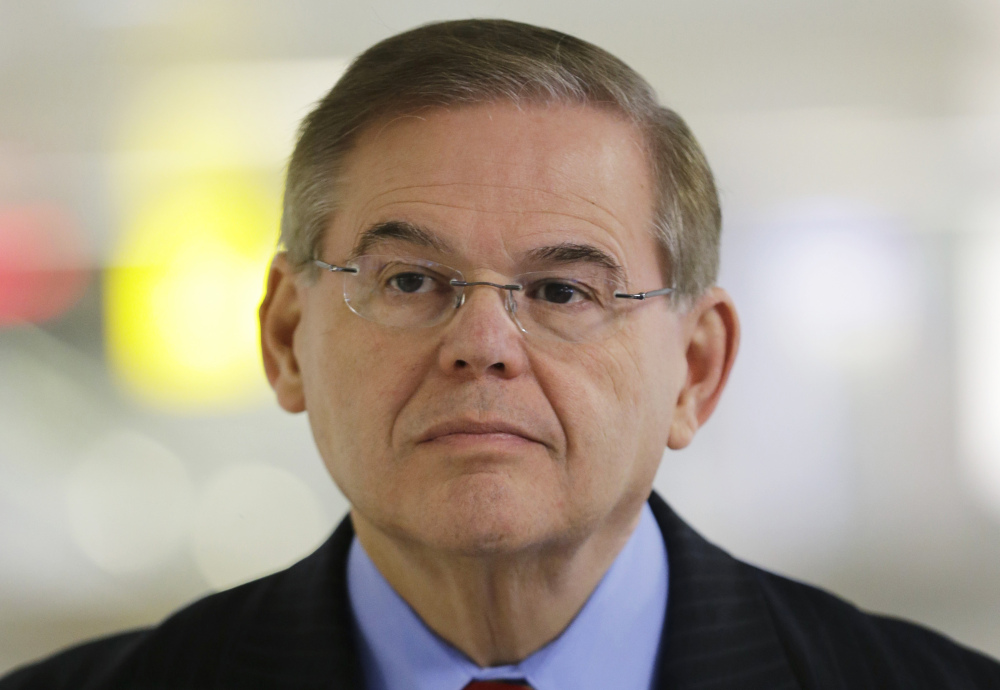 A statement released Friday by Sen. Robert Menendez says many false allegations have been made about his ties with Dr. Salomon Melgen, who is a friend and donor to Menendez's campaigns. 2013 Associated Press file photo