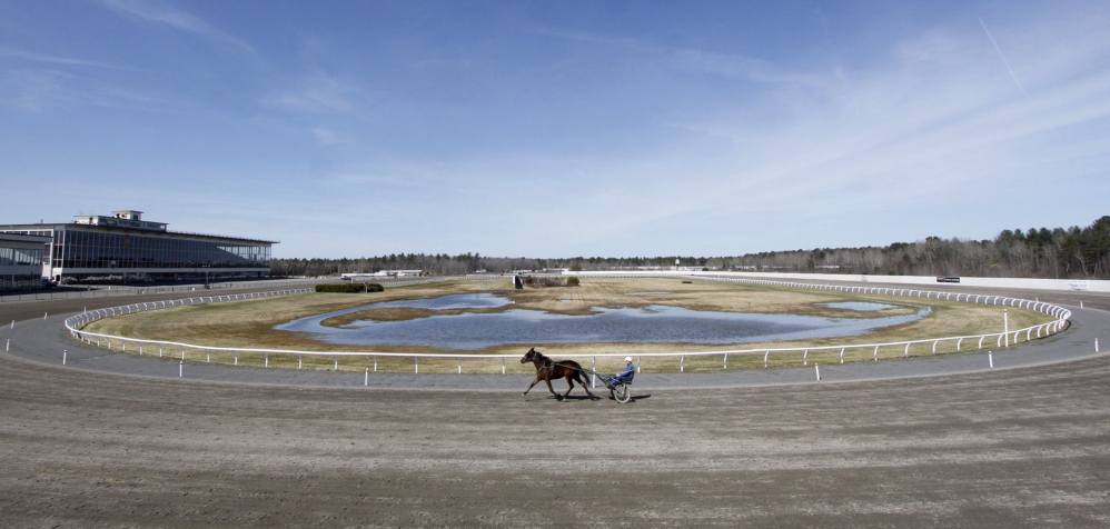 Total wagers at Scarborough Downs reportedly fell by 40 percent from 2002 to 2011, and that trend has continued, says the attorney for the racetrack facing a breach-of-contract lawsuit.