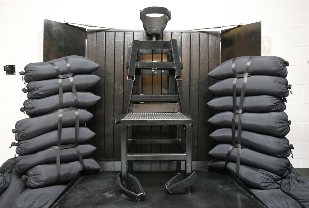 The firing squad execution chamber at the Utah State Prison in Draper, Utah, in 2010. Utah's Gov. Gary Herbert will not say if he'll sign a bill to bring back the firing squad.