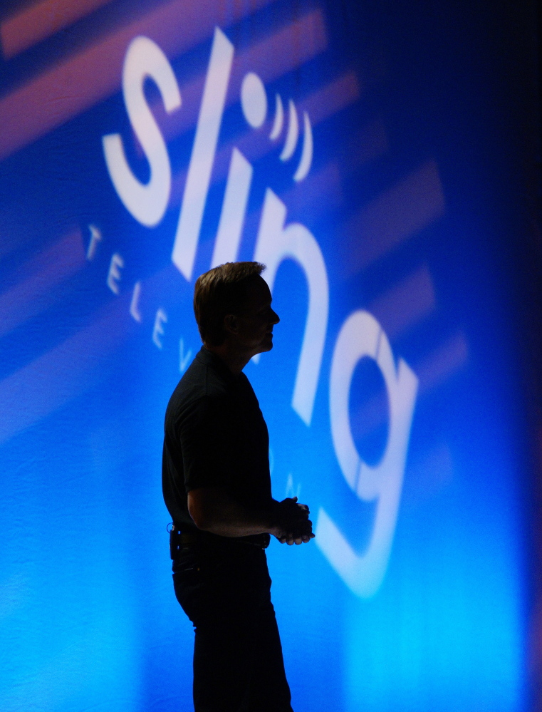 Roger Lynch, CEO of Sling TV, announces the new Sling streaming service by Dish during a news conference Jan. 5 at the International Consumer Electronics show in Las Vegas.