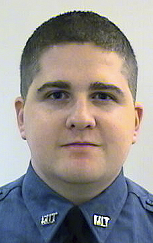 FILE - This undated file photo released by the Middlesex District Attorney's Office shows Massachusetts Institute of Technology Police Officer Sean Collier, of Somerville, Mass. Investigators said Collier was shot to death Thursday, April 18, 2013 on the school's campus in Cambridge, Mass., by Boston Marathon bombing suspects Tamerlan and Dzhokhar Tsarnaev in a botched attempt to obtain his gun several days after the twin explosions. During testimony Wednesday, March 11, 2015, in the federal death penalty trial in Boston of Dzhokhar Tsarnaev, MIT Police Chief John DiFava testified he told Collier to