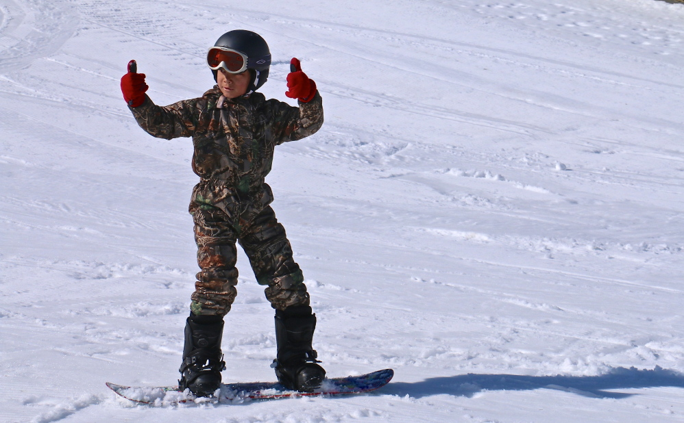 Thumbs up to the Camden Snow Bowl for helping to usher in the next generation of skiers and snowboarders, among them Friendship Village School fourth-grader Devin Secotte, who's already hooked.