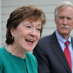 Sens. Susan Collins and Angus King. Collins is seen as one of the moderate Republicans who could play a role in deciding whether any Supreme Court nomination is considered this year.