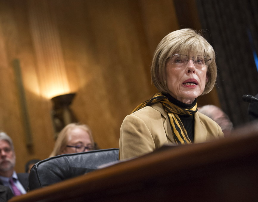 Judy Rivers of Logan, Ala., testifies before the Senate Homeland and Government Affairs Committee about being listed as dead on the Death Master File.