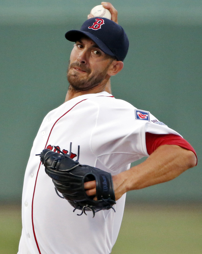 Boston's Rick Porcello, shown here, and Clay Buchholz are top-flight pitchers but neither is the true ace a staff ought to have.