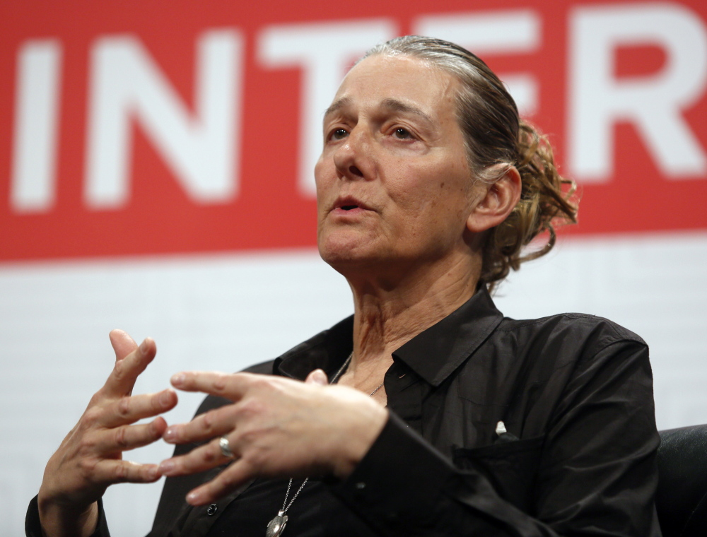 "United Therapeutics CEO Martine Rothblatt gives a keynote address on ""AI, Immortality and the Future of Selves"" at the South by Southwest festival on Saturday in Austin, Texas."