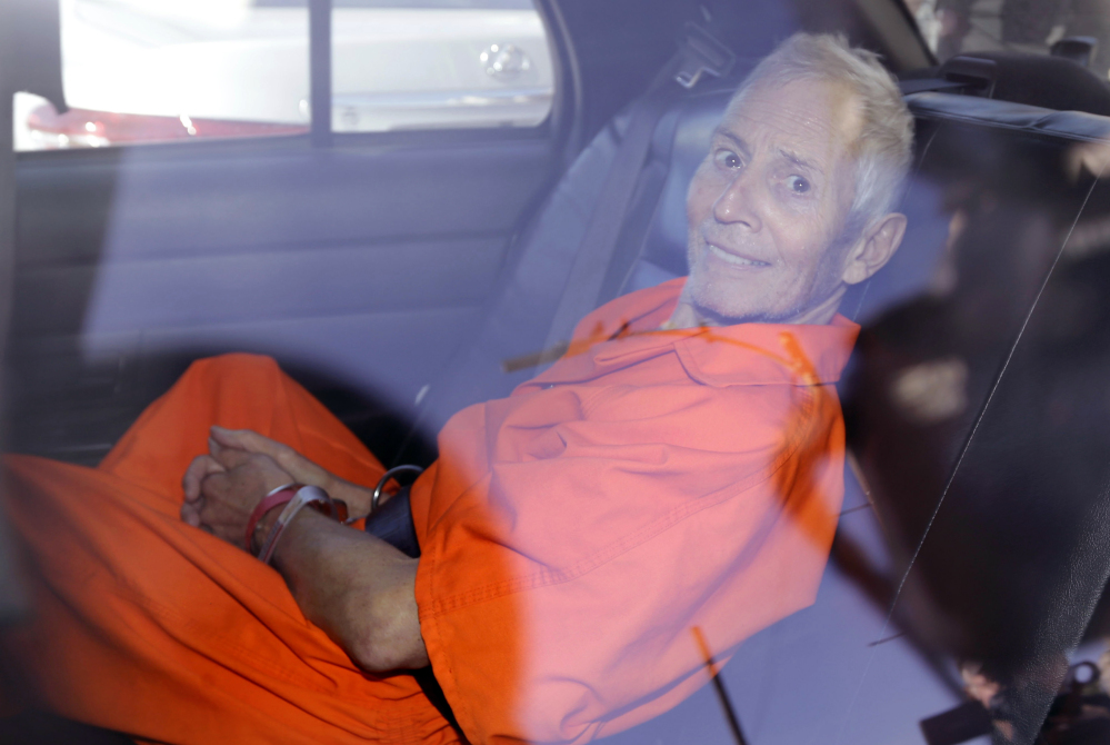 Robert Durst, above, is charged with killing his friend, Susan Berman, 15 years ago in California. An HBO documentary team found handwriting on a letter sent to Beverly Hills police closely matches Durst's handwriting.