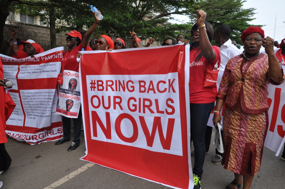 Nigerians continue to pressure their leaders to rescue the more than 200 schoolgirls abducted by Islamic militants last year, but there's been no progress.