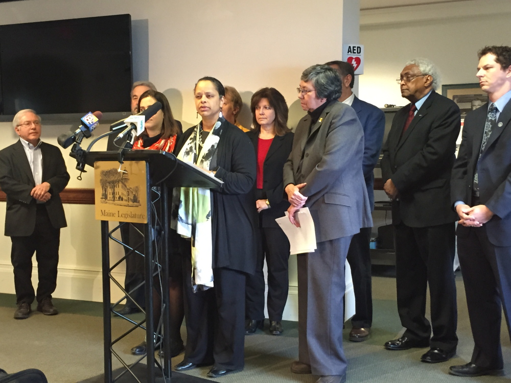 """Rachel Talbot Ross, president of the NAACP's Portland chapter, said at a news conference Friday that """"Looking the other way, staying silent, is easy."""""""