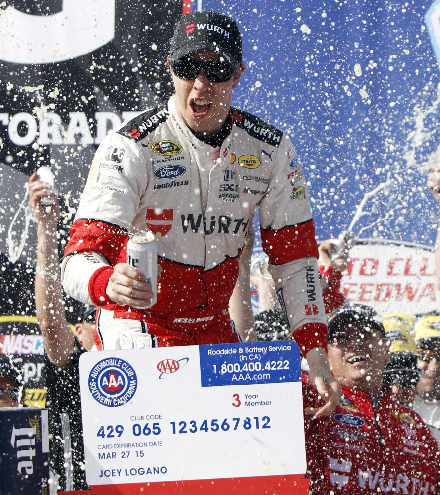 Victory tastes great to Brad Keselowski, who prior to Sunday had never finished better than 18th at Fontana, Calif.