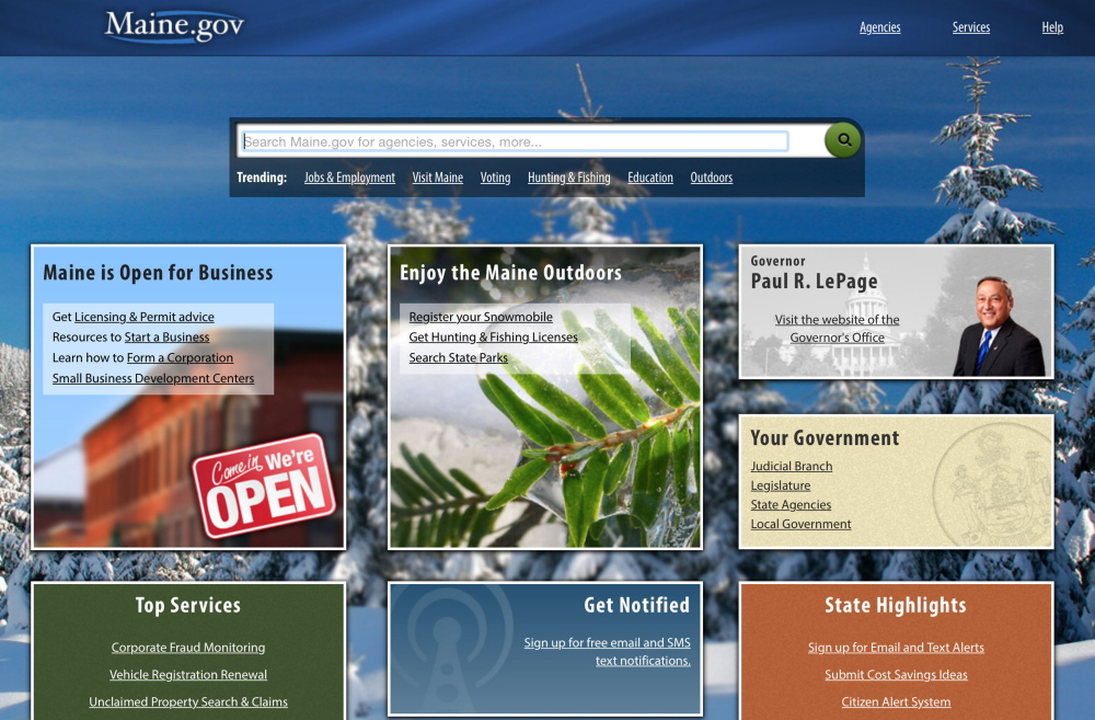 The state government website maine.gov, which residents use to register cars, purchase hunting and fishing licenses and for myriad other services, was shut down by a cyberattack for three hours Monday  and again for about 2-1/2 hours Tuesday.