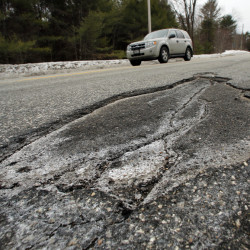 As they did in 2015, Maine's roads got a D this year from the American Society of Civil Engineers.